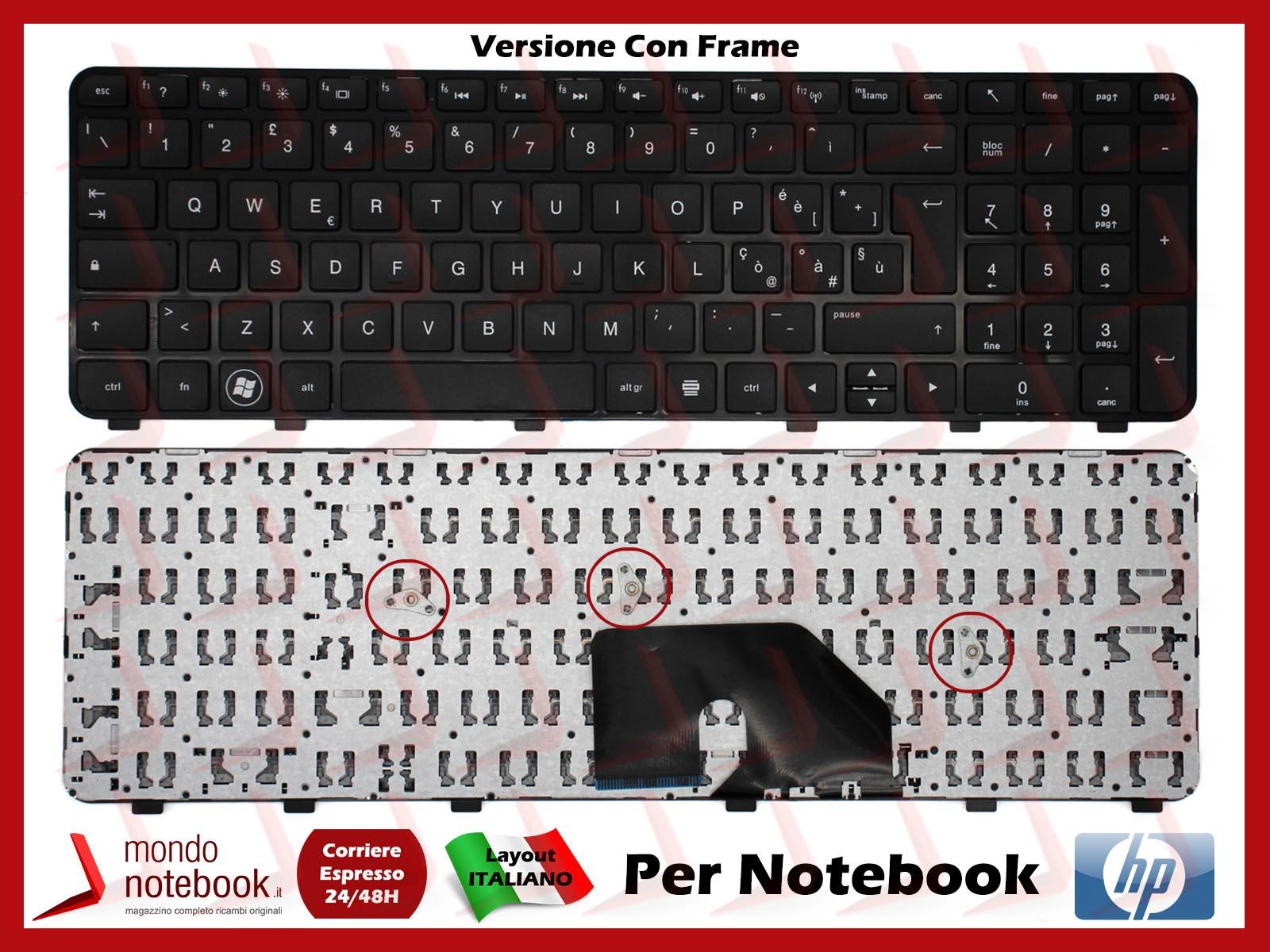 DV6-6006EM Tastiera ITA Nero con Frame HP Pavilion DV6-6006EA DV6-6006EL