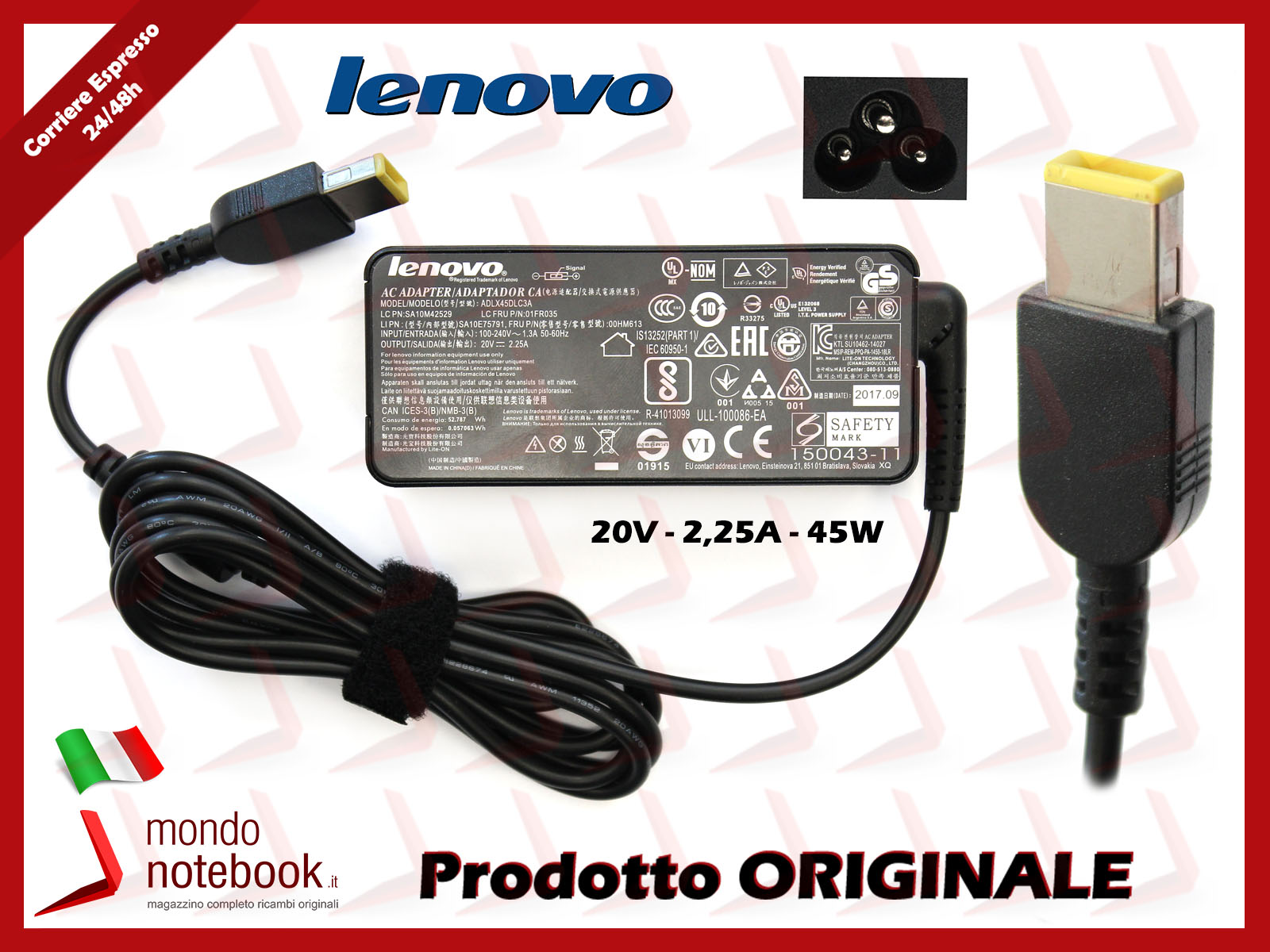 Lenovo ThinkPad L530 Notebook Compatibile Adattatore Caricabatterie